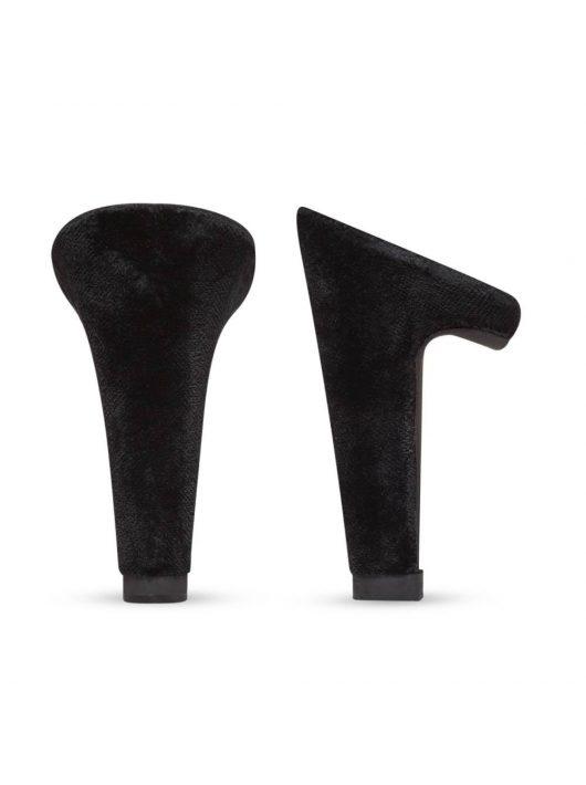 Fekete velúr sarok - Block 10 cm